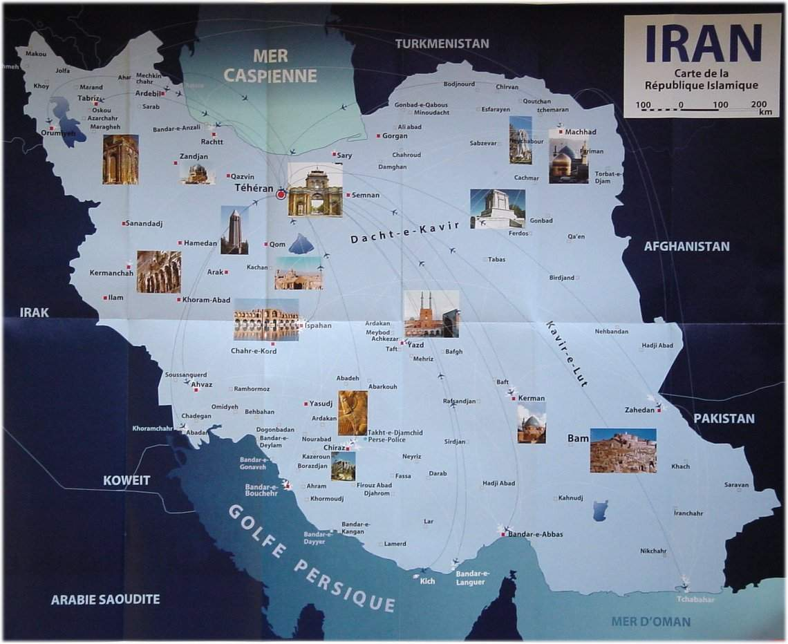 tourisme en iran carte touristique d 39 iran. Black Bedroom Furniture Sets. Home Design Ideas